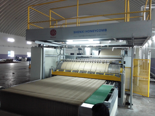 High Speed Honeycomb Core Produce Machine